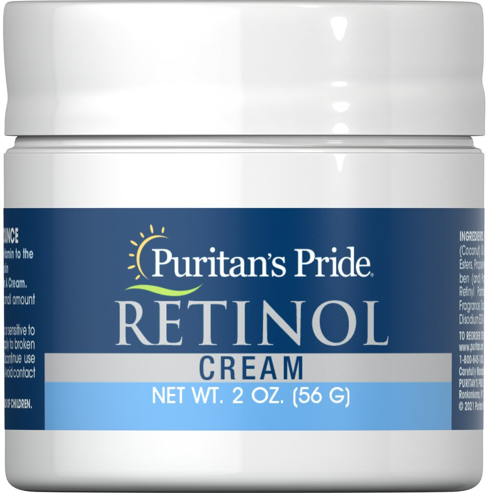 Retinol Cream (Vitamin A 100,000 IU Per Ounce) <p></p>Vitamin A is important to the appearance of your skin. Our retinol cream contains 100,000 IU of vitamin A per ounce. Simply apply to your face and enjoy smooth, hydrated skin. Retinol Cream provides you with the nourishing benefits of Vitamin A. Combined with natural protective moisturizers, this cream helps to keep your skin soft, smooth and young looking.<p></p> 2 oz Cream 100000 IU $5.99