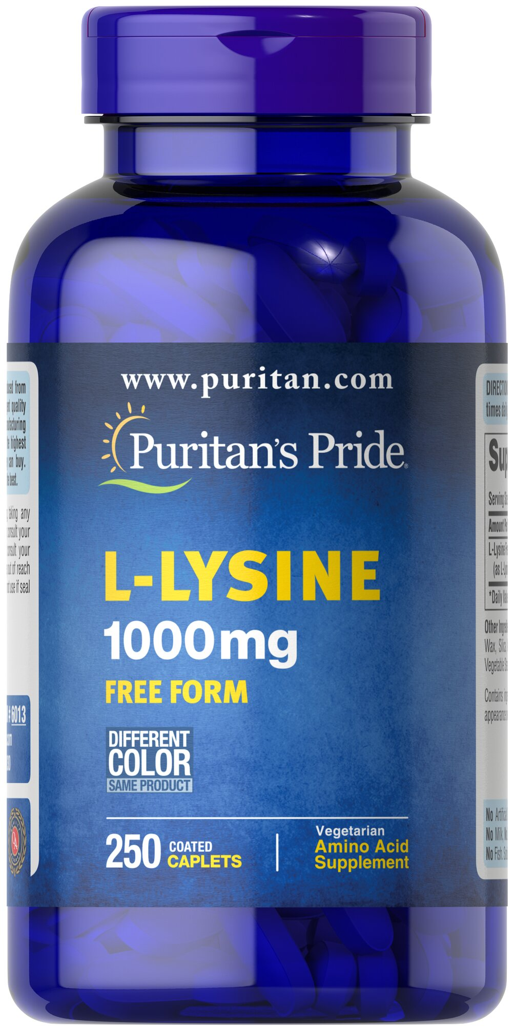 L-Lysine 1000 mg <p>For Balanced Nutrition and Health**</p><p>Lysine is an indispensable amino acid that cannot be made by the body.** Amino acids form the basis for protein, which helps construct and maintain the critical structures in the body.** Lysine is also used for the health and integrity of skin.**</p> 250 Tablets 1000 mg $27.99