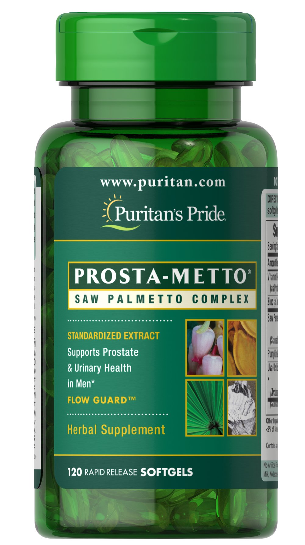 Prosta-Metto® Saw Palmetto Complex For Men <p>Extra Strength Prosta-Metto® softgels deliver 160 mg of standardized Saw Palmetto to support prostate and urinary health in men.** Saw Palmetto is an extract derived from the berry of the Saw Palmetto tree and is the leading herb for men's health.** This formulation also includes Pumpkin Seed Oil and Uva-Ursi, traditional ingredients for men's health, plus Zinc for the immune system.** </p> 120 Softgels  $14.99