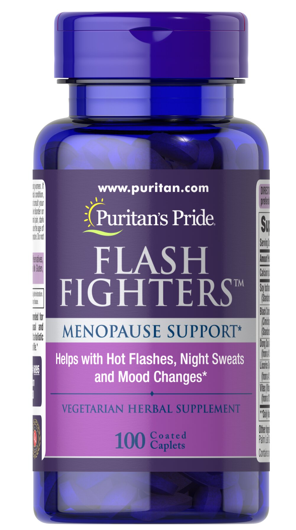 Flash Fighters™ <p>A combination of ingredients including Black Cohosh, Calcium, Soy, and more to help support the health of women during menopausal changes**</p> 100 Caplets  $24.99