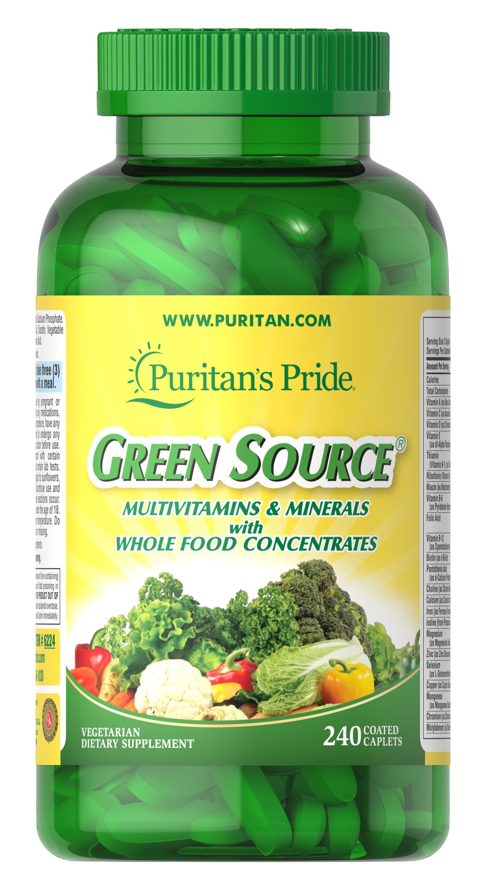 Green Source® Multivitamin & Minerals  240 Caplets