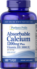 Absorbable Calcium 1200 mg with Vitamin D 1000 IU  100 Softgels 1200 mg/1000 IU $11.99
