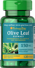 Olive Leaf Standardized Extract 150 mg <p>Our Olive Leaf Extract is derived from the leaves of the Mediterranean olive tree. This extract is standardized for 20% Oleuropein, a powerful phytonutrient. Olive leaves have been used for overall well-being for thousands of years by people in countries bordering the Mediterranean.</p> 120 Capsules 150 mg $17.99