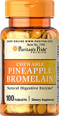 Pineapple Bromelain Chewables <p>Two tablets contain 80 mg bromelain combined with the natural goodness of papain from papaya. Experience the exotic flavor and nutritional benefits of these fine Pineapple Bromelain tablets today.</p> 100 Tablets 40 mg $6.29