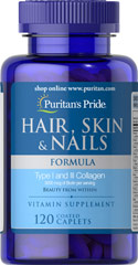 Hair, Skin & Nails Formula <p>A wide array of vitamins, minerals and herbal extracts including Niacin and Biotin that support the health and beauty of your hair, skin and nails**</p> 120 Caplets  $23.99