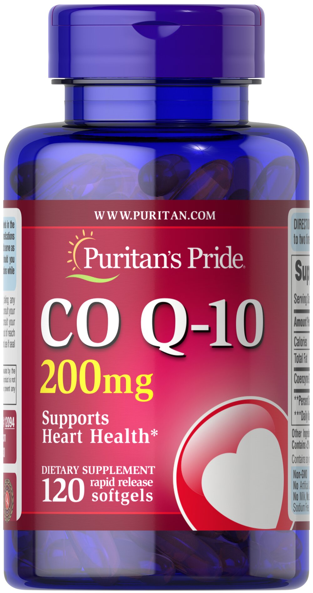 Co Q-10 200 mg <p></p>•    Contributes to your heart and cardiovascular wellness**<br />•    Helps support healthy blood pressure levels already within a normal range**<br />•    Promotes energy production within your heart and muscles**<br /><br /><br />Made with a natural, highly bioavailable form of Co Q 10 — Q-Sorb.™ Important for Statin medication users++ — taking Q-Sor