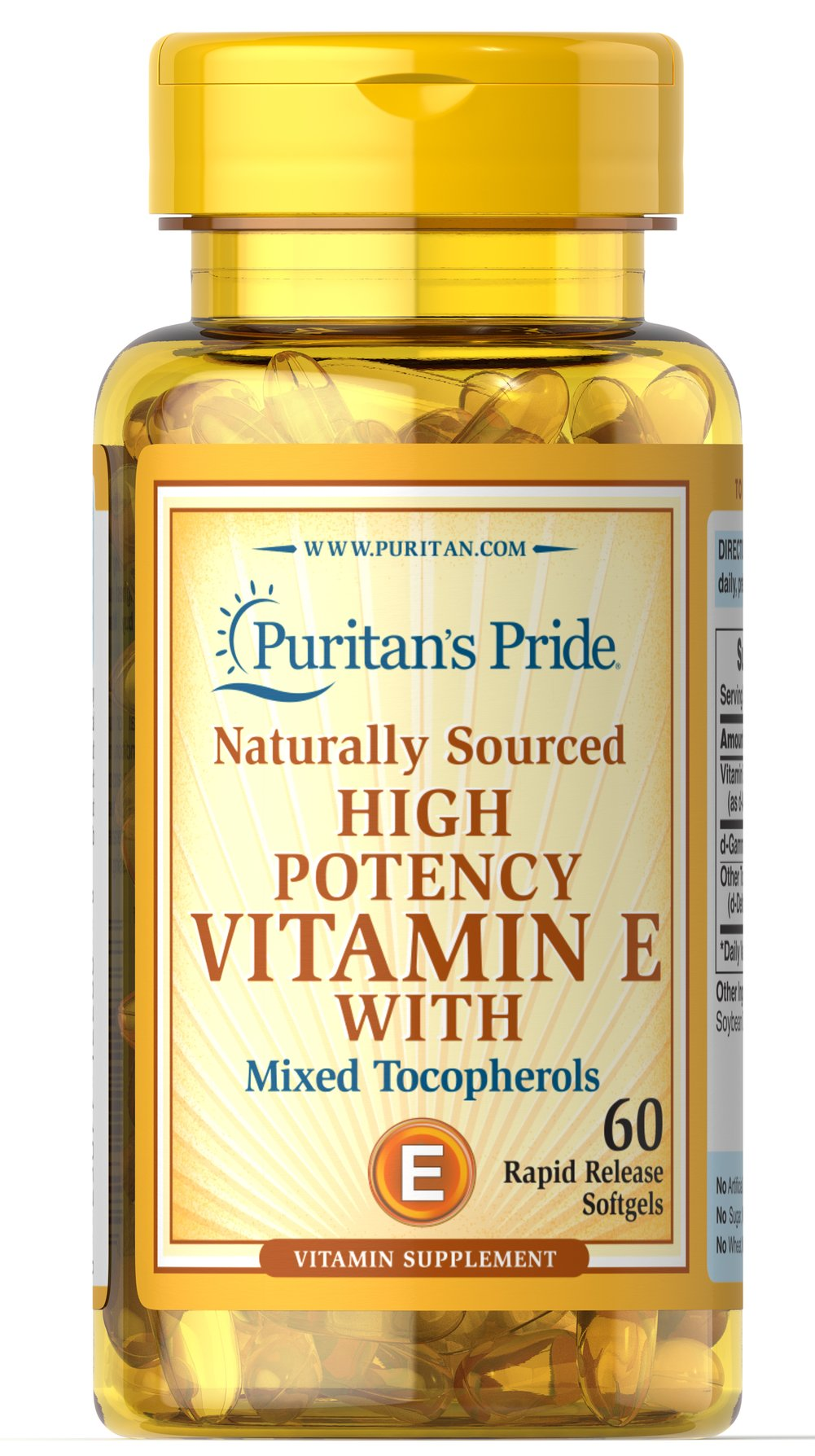 Vitamin E Complex High Gamma Natural <p>Superior Blend of <strong>d-Gamma Tocopherol</strong> with Other Vitamin E Tocopherols</p><p>Gamma-tocopherol is an important Vitamin E component.** High Gamma Tocopherol is a concentrated blend of both gamma and alpha-tocopherols (plus tocotrienols), which support heart health and have exceptional antioxidant properties.**</p> 60 Softgels 200 IU $29.99