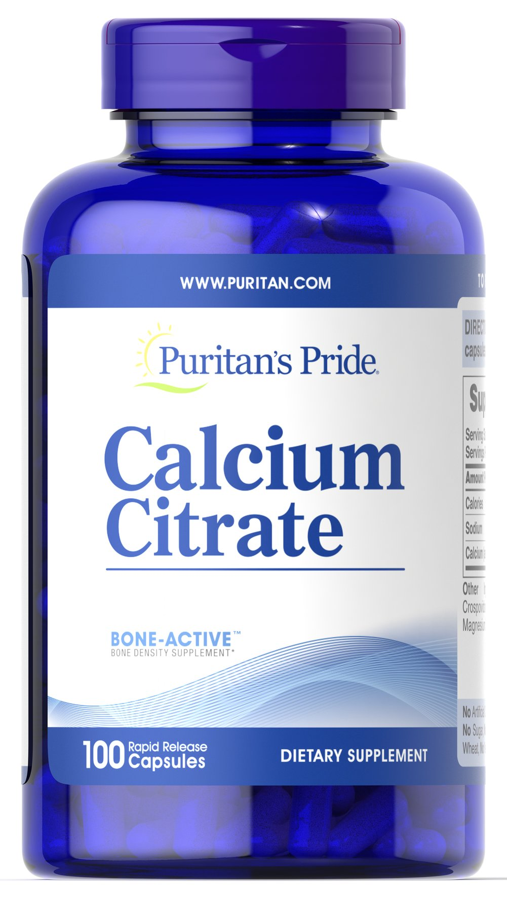 Calcium Citrate <p>Calcium is a major mineral essential for proper nutrition.** Your body could not survive without it. Calcium promotes bone strength, but also helps to maintain the health of other vital systems in the body, including the heart, muscles and nerves.** <br /></p> 100 Capsules 250 mg $15.49