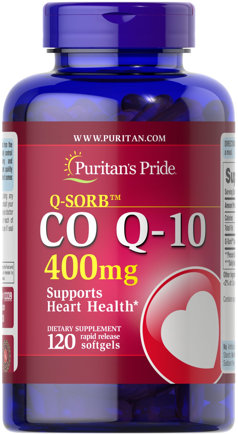 Q-Sorb™ CO Q-10 400 mg  120 Softgels 400 mg $96.99