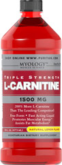 L-Carnitine 1500 mg Lemon <p>Our Triple Strength liquid formula is fast acting, comes in delicious natural lemon, watermelon, or grape flavor.</p><p>Promotes muscular energy and is important for heart health.**</p><p>Contributes to energy production.**</p><p>Provides support for fat metabolism.**</p><p>An easy dose of just one tablespoon a day.</p><p>A perfect choice for vegetarian lifestyles.</p> 16 oz Liquid 1500 mg $16.19