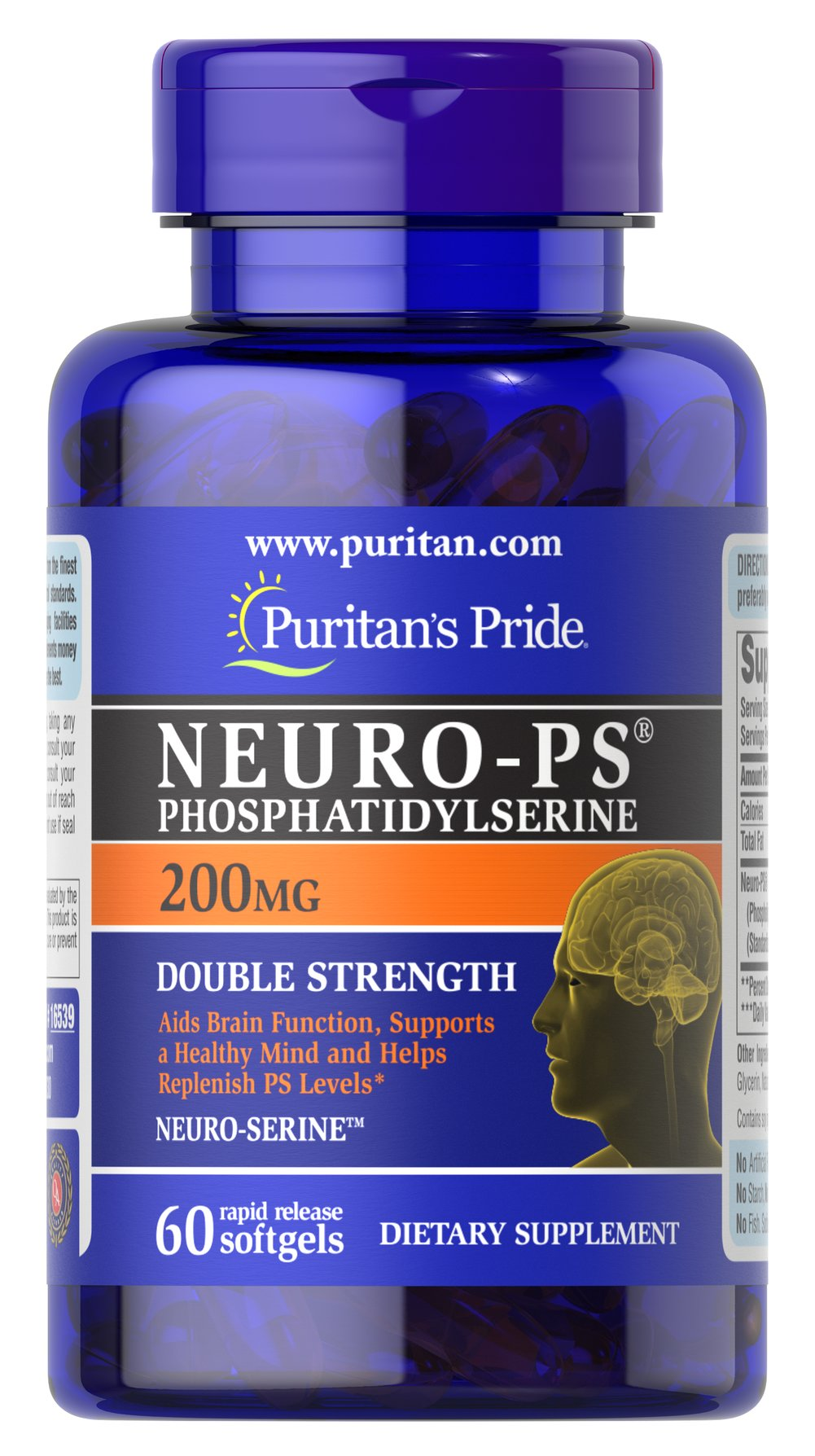 Neuro-PS (Phosphatidylserine) 200 mg  60 Softgels 200 mg $64.99