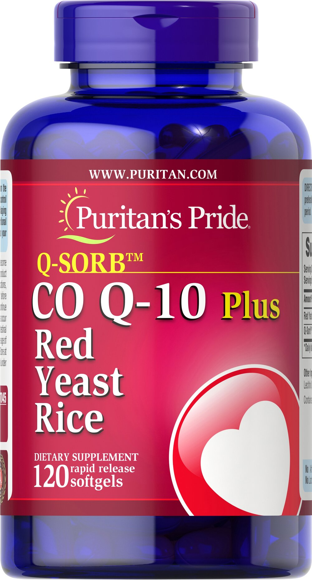 Q-SORB™ Co Q-10 Plus Red Yeast Rice  120 Rapid Release Softgels 120 mg/1200 mg $39.99