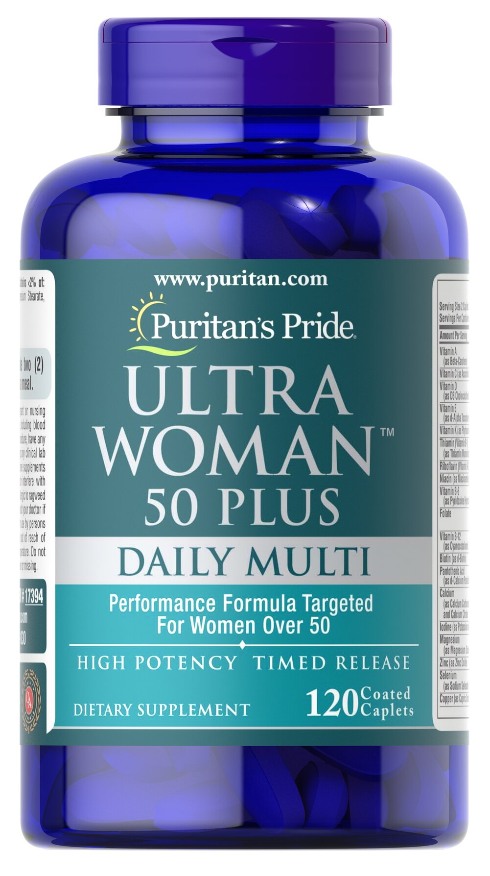 Ultra Woman™ 50 Plus Multi-Vitamin  120 Coated Caplets