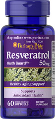 Resveratrol 50 mg <p>Everyone's talking about it… and we've got it…Resveratrol… the beneficial substance found in red wine.**</p><p>Resveratrol, the beneficial substance in red wine, nutritionally supports antioxidant health**</p><p>Helps fight cell-damaging free radicals in the body**</p><p>Gives you more Resveratrol in a daily serving than an entire bottle of red wine</p> 60 Softgels 50 mg $14.39