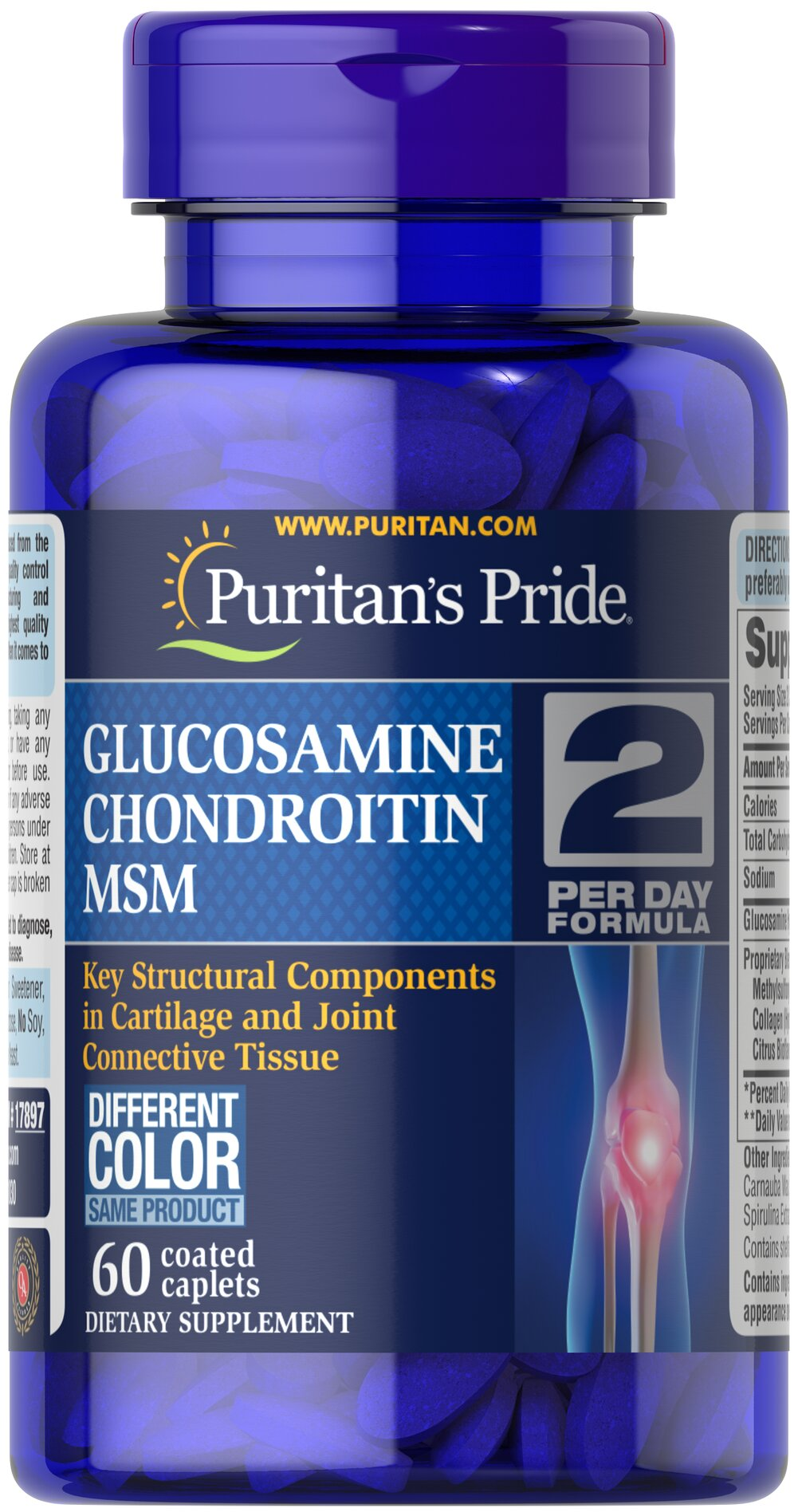 Triple Strength Glucosamine, Chondroitin & MSM Joint Soother®  60 Caplets  $15.19
