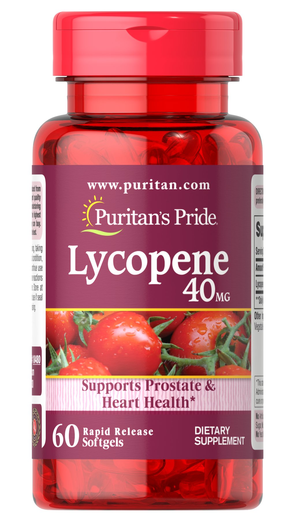 Lycopene 40 mg  60 Softgels 40 mg $39.99