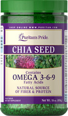 Chia Seeds <p>Chia Seeds add Omega-3 and Omega-6 fatty acids, fiber, and protein to any dish, and their neutral flavor keeps your recipes tasting just how you like them.**</p><p>Fiber helps to lower the glycemic index of meals, to help maintain blood sugar levels already within a normal range.</p><p>Essential fatty acids provide support for heart and skin health.**</p> 16 oz Seeds  $33.99