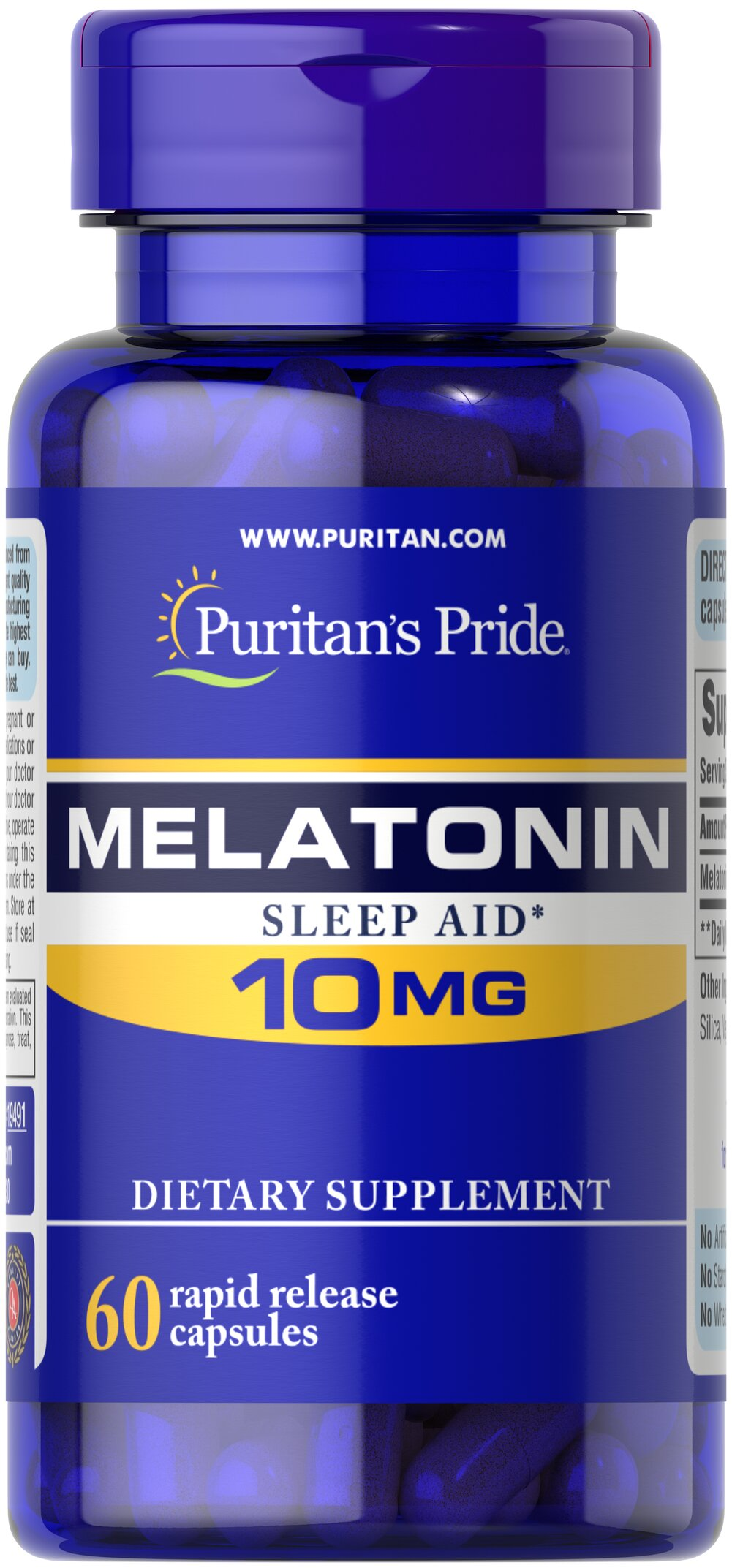 Melatonin 10 mg <p>Melatonin is a hormone that is naturally produced in the body. Melatonin is closely involved in the natural sleep cycle.** Because inefficient sleep can affect your energy and your mood, melatonin is a terrific choice if you experience occasional sleeplessness or jet lag, or if you want to improve your quality of rest.**  Melatonin helps you fall asleep faster and stay asleep longer.** When taken at bed time, melatonin may provide blood pressure support for bloo