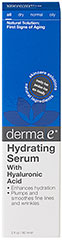 Derma E® Hyaluronic Acid Rehydrating Serum <p><strong>From the Manufacturer</strong></p><p><strong>Ultra-Hydrating</strong></p><p><strong>Plumps and Smoothes Fine Lines and Wrinkles</strong></p><p><strong>- An intensive, nourishing serum</strong> that can be used in combination with other DermaE moisturizers to enhance their effect. May also be used alone for those with oily or blemish-prone skin.</