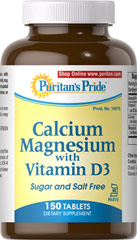 Calcium Magnesium with Vitamin D3 Kosher <p>Uses Calcium Citrate – a highly absorbable form of this essential mineral. Calcium also promotes heart, muscle, blood, colon and nerve health**</p><p>Magnesium is involved in protein formation, energy production and sugar metabolism**</p><p>Vitamin D3 supports immune system health, as well as colon, breast and pancreas health**</p><p>Prepared under KOF-K Kosher Supervision</p> 150 Tablets 1000 mg/400 IU $