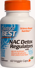 Best NAC Detox Regulators <p><strong>From the Manufacturer's label</strong></p><p>We are proud to bring you Best NAC Detox Regulators from Doctor's Best. Look to Puritan's Pride for high-quality national brands and great nutrition at the best possible prices</p> 60 Vegi Caps  $6.99