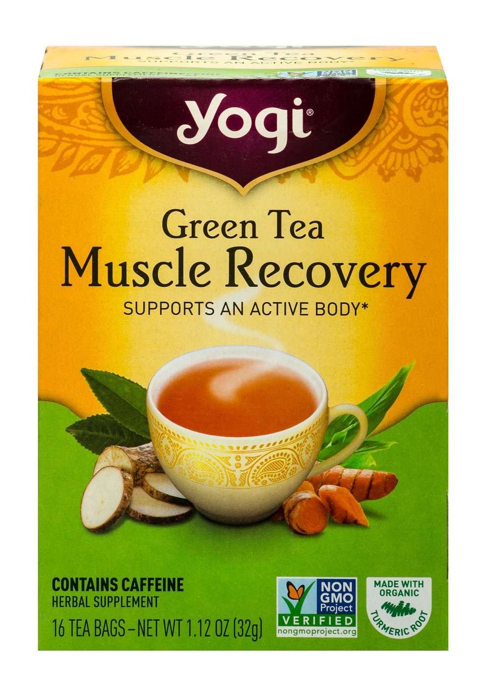 Green Tea Muscle Recovery  16 Tea Bags  $7.49