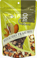 Pistachio Trail Mix Crunch <p><strong>From the Manufacturer:</strong></p><p>Absolutely delectable and delicious! This crunchy pistachio trail mix is slowly dry roasted to perfection!</p><p>Good Source of Protein and Low in Sodium</p> 3 oz Bag  $6.99