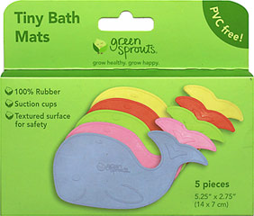 Tiny Bath Mats <p><b>From the manufacturer:</b></p><p>100% rubber</p><p>Convenient for travel</p><p>Suction cups to help prevent slipping</p><p>Non-toxic & PVC free</p>  1 Each  $9.99