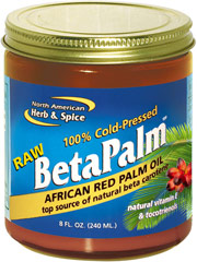 Raw BetaPalm™ African Red Palm Oil  8 oz. Oil  $4.49