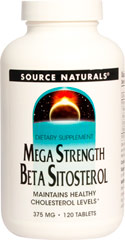 Mega Strength Beta Sitosterol  120 Tablets 375 mg $12.99