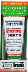 Fresh Breath Toothpaste <p><strong>From the Manufacturer: </strong></p><p>Thera Breath Fresh Breath Toothpaste works instantly on bad breath with soothing aloe vera. Fresh mint flavor.</p> 4 oz Paste  $8.99
