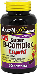 Super Vitamin B-50 Complex Liquid  60 Softgels  $11.99
