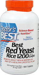 Red Yeast Rice 1200 with CoQ10  180 Tablets  $40.99