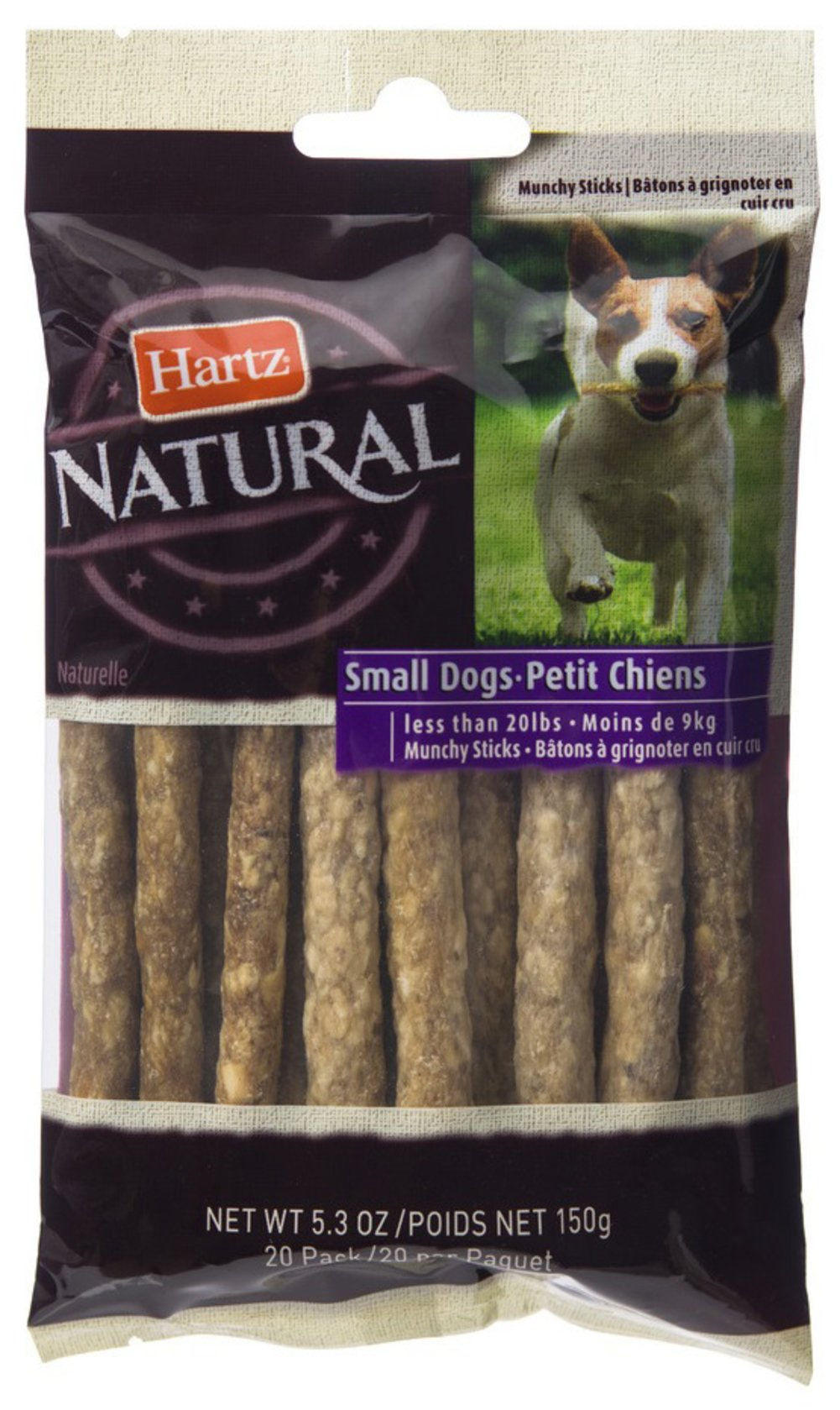 Rawhide Natural Sticks for Small Dogs <p><strong>From the Manufacturer:</strong></p><p><strong></strong>Hartz Natural Rawhide Sticks for Small Dogs is an ideal treat for aggressive chewers and naturally promotes plaque and tartar reduction.</p> 20 Pack  $4.49