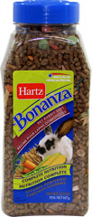 Bonanza Pet Rabbit Diet <p><strong>From the Manufacturer: </strong></p><p>Hartz Bonanza Pet Rabbit Diet is scientifically-formulated to meet the nutritional needs delivering the right blend of delicious ingredients, it ensures optimal consumption which aids in providing complete nutrition.</p> 22.5 oz Container  $7.99
