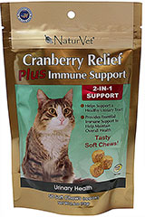 Cranberry Relief Plus Immune Soft Chews <p><strong>From the Manufacturer:</strong></p><p><strong></strong>NaturVet's Cranberry Relief Plus Immune Support helps support a healthy urinary tract and provide essential immune support to maintain overall health.</p> 50 Chews  $12.99