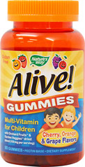 Alive! Gummies for Children  90 Gummies  $10.99
