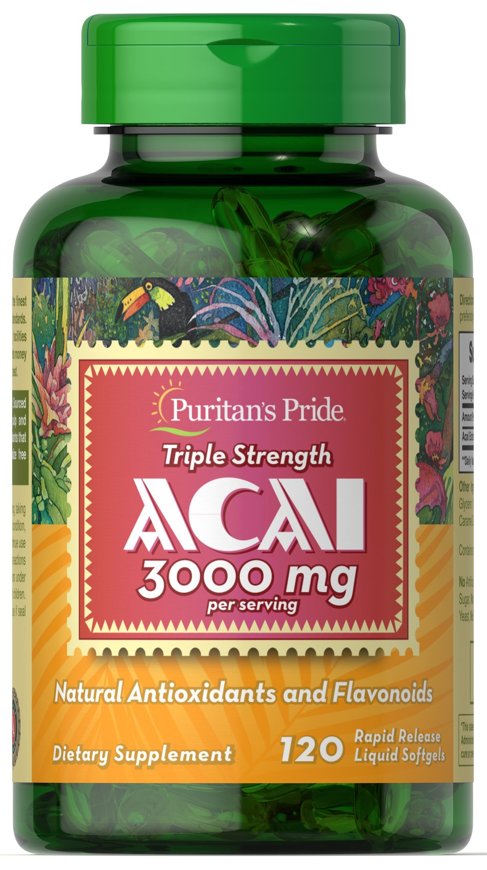 Triple Strength Acai 3000 mg  120 Softgels 3000 mg $29.99