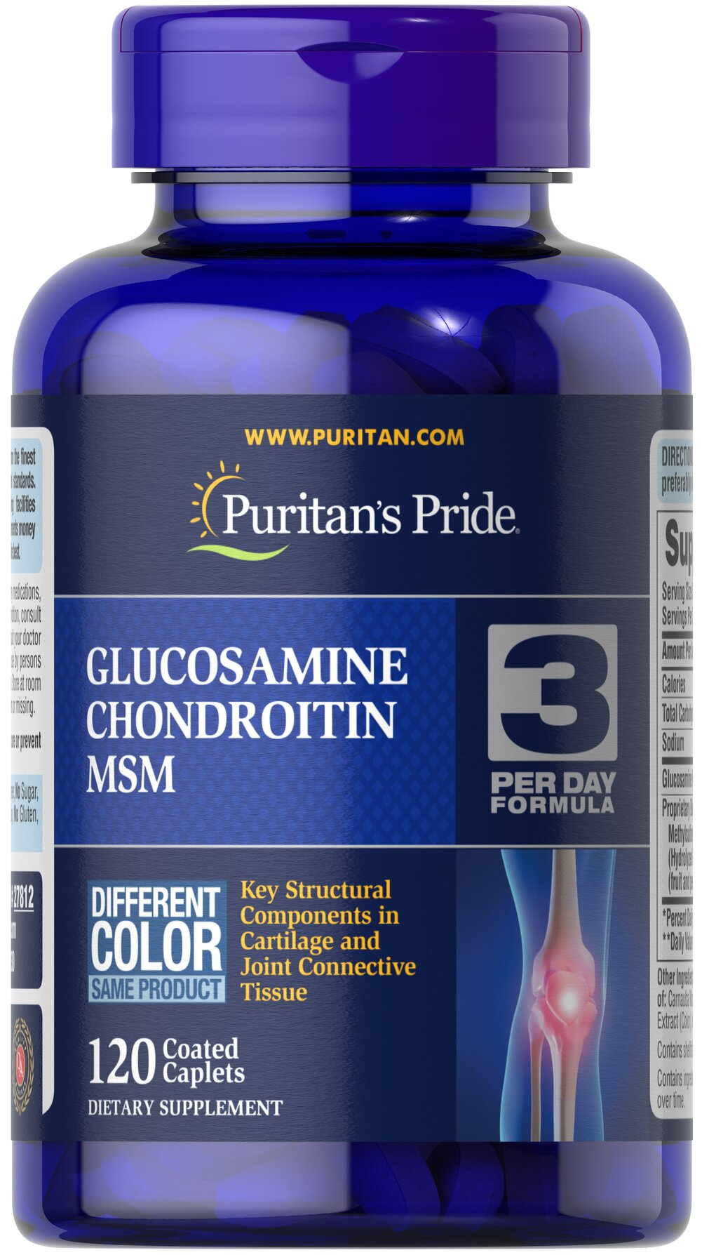 Double Strength Glucosamine, Chondroitin & MSM Joint Soother® <p>Combines the top three structural components found in popular joint support products — Glucosamine, Chondroitin and MSM — with amino and herbal support from Collagen and Boswellia Serrata**</p><p>This high-quality formula delivers 1,500 mg of Glucosamine Sulfate to help support cartilage, lubricate the joints, and helps with occasional joint stress due to exercise or physical activity**</p> 120 Capl