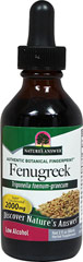 Fenugreek Seed Liquid Extract <p><strong>From the Manufacturer's Label:</strong></p><p>Fenugreek Seed Liquid is super concentrated 2,000 mg is low alcohol. </p><p>Manufactured by Nature's Answer.</p> 2 oz Liquid 2000 mg $11.99