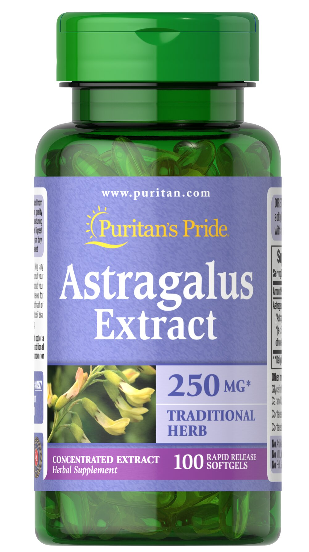 Astragalus Extract 1000 mg* <p>Traditional Chinese Herb </p><p>Astragalus contains naturally occurring flavonoids and polysaccharides. As a traditional Chinese herb, Astragalus is known for its goodness.</p> 100 Softgels 1000 mg $14.99