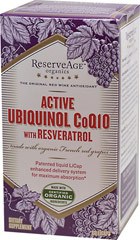 Active Ubiquinol Co Q-10 with Resveratrol  60 Liquid Capsules  $45.99