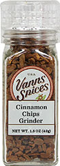 Cinnamon Chips Grinder <strong></strong><p><strong>From the Manufacturer:</strong></p>Cracked cinnamon chips consist of pieces between 1/8 and 1/4 inches. Cinnamon chips are perfect for steeping in tea and making mulled cider.<br /> 1.5 oz Grinder  $7.99