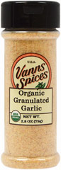Organic Granulated Garlic  2.8 oz Bottle  $7.99