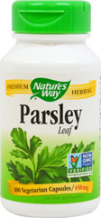 Parsley Leaf 450 mg <p><strong>From the Manufacturer's Label:</strong></p><p>Parsley 450 mg is manufactured by Nature's Way.</p> 100 Capsules 450 mg $5.49