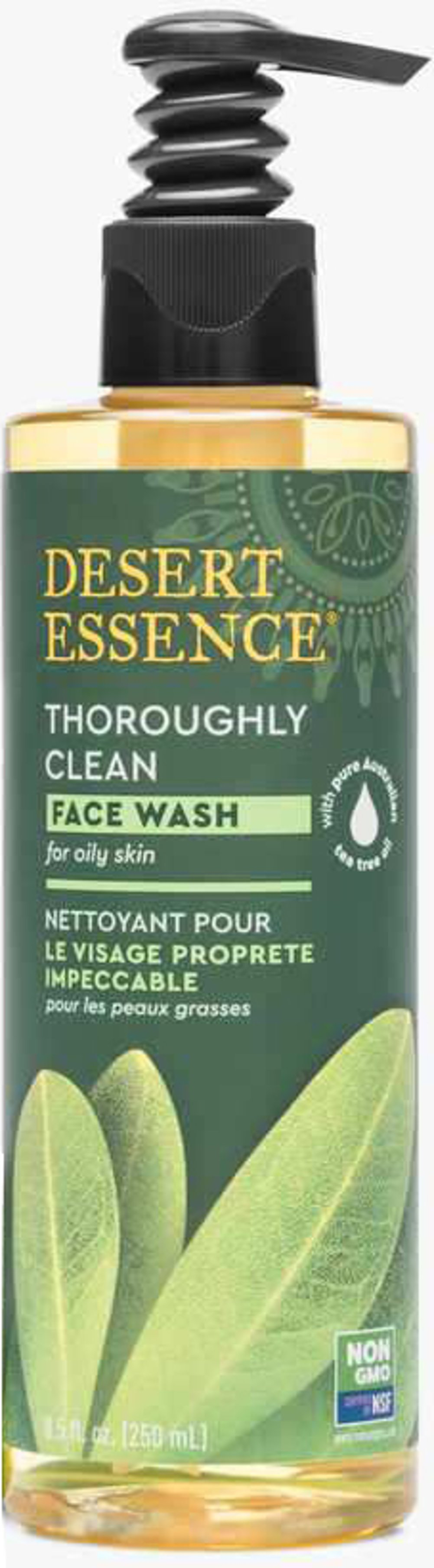 Tea Tree Oil Thoroughly Clean Face Wash for Oily/Combination Skin <p><strong>From the Manufacturer's Label: </strong></p><p>Desert Essence Thoroughly Clean Face Wash is a gentle cleansing solution that leave your skin feeling clean and silky. This unique face wash contains natural organic Tea Tree Oil. Included  also are extracts of Goldenseal, Hawaiian White Ginger, and the essential oil of Chamomile.  </p><p>Mineral rich Bladderwrack, harvested fro