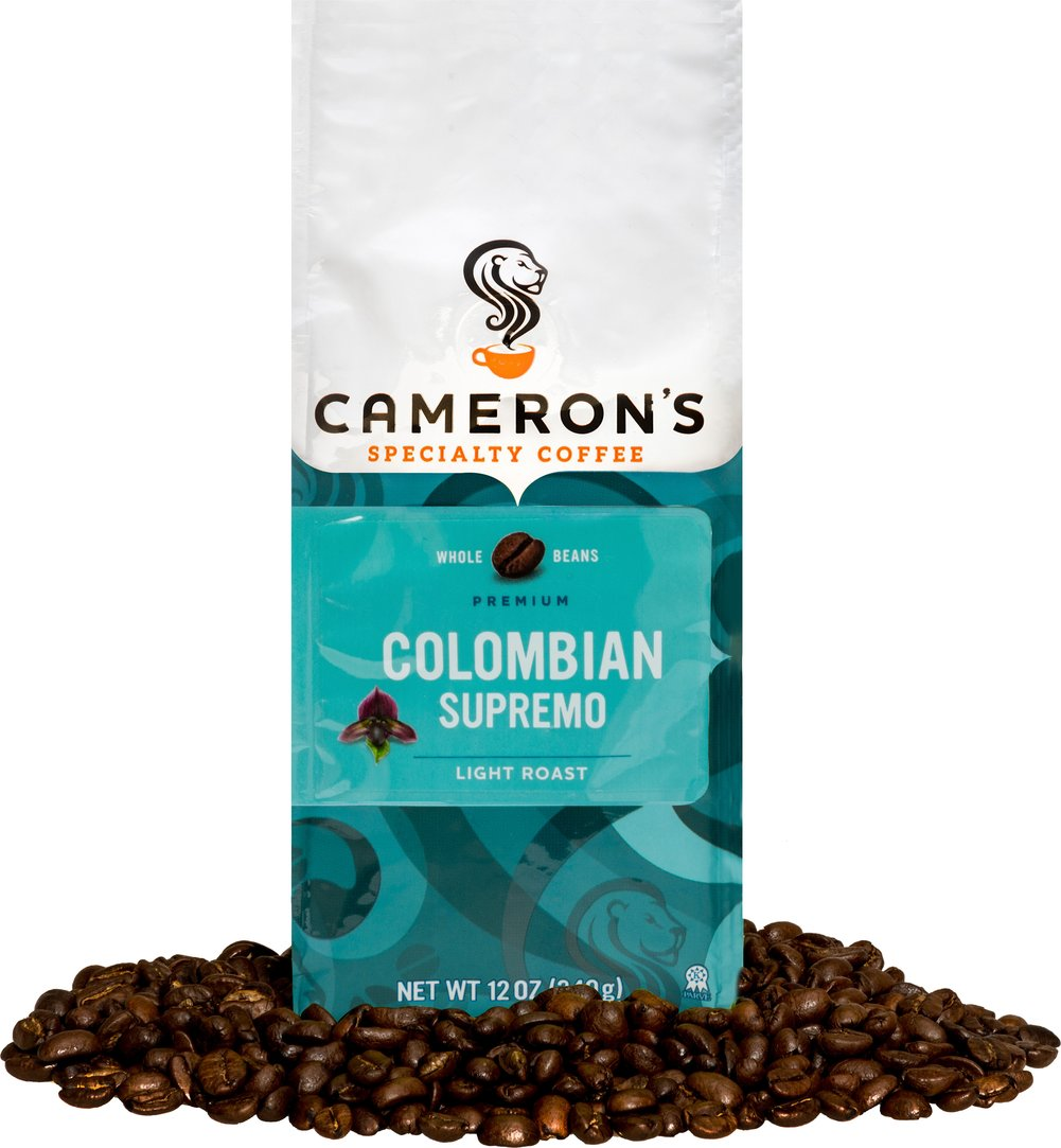 "Colombian Supremo Whole Bean Coffee <p><strong>From the Manufacturer's Label: </strong></p><p><span class=""bold-text"">Made from 100% Arabica Beans, Kosher</span></p><p><span class=""bold-text"">Origin: </span>Colombian</p><p><span class=""bold-text"">Taste: </span>Vibrant, bold, complex flavor reminiscent of walnuts.</p><p><span class=""bold-text"">Fre"