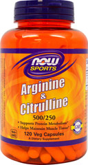 L-Arginine 500mg with Citrulline 250 mg <strong></strong><p><strong>From the Manufacturer:</strong></p><p>Arginine and Citrulline are two amino acids that are integral to protein metabolism and utilization as well as to the maintenance of muscle tissue.  Both are key intermediates in the urea cycle, where they participate in the detoxification of ammonia via the production of urea.  Arginine that has not been converted to urea enters general circulation