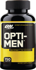 Opti-Men™ <p><strong>From the Manufacturer's Label:</strong></p><ul><li>Nutrient Optimazation System**</li><li>High Potency</li><li>75+ ingredients </li></ul><p>Manufactured by Optimum Nutrition</p><p></p> 150 Tablets  $32.99