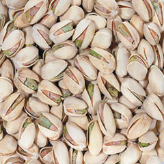 Roasted Salted In Shell Pistachios <p>Pistachios are naturally cholesterol-free and they are nutrient-dense, so they're ideal for snacking.  A small portion of pistachio nuts (about  1 ounce) can help with hunger and taking them out of their shells helps slow you down, so you can relax and enjoy each tasty nut. And, pistachios have a heart-healthy fatty acid profile as well.<sup>1◊</sup> Perfect on their own, these in-the-shell, salted, roasted pistachios